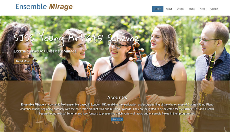 Ensemble Mirage Website Launch!